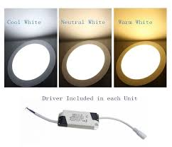 9w bright led recessed ceiling panel light bulb l warm