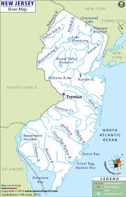 Map Of Middlesex County Nj New Jersey Rivers Map Rivers In New Jersey