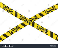 Flag With Cross And Stripes Yellow Black Hazard Stripes Caution Tape Stock Illustration