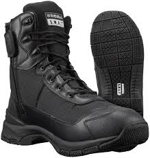 Most Comfortable Police Duty Boots High Agility Weight Kinetics H A W K Side Zip Boots Original S W A T