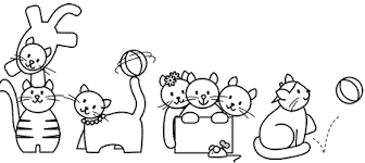 rspca colouring sheets kitty cat fun colouring sheet