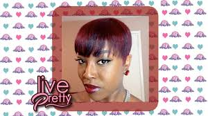 relaxed hair burgundy color youtube