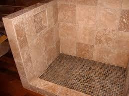small tile slate floor travertine bathroom and shower