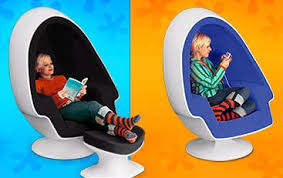 Entertainment Chair Modpod Egg Chair Entertainment Inside An Egg