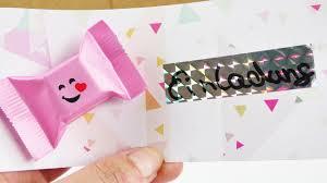 sweet invitation card pary invitation with chocolate birthday