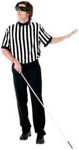 Ref Halloween Costumes Amazon Funworld Men U0027s Blind Referee Kit Black Size