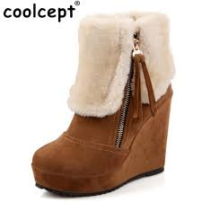 buy boots free shipping aliexpress com buy coolcept free shipping ankle half wedge