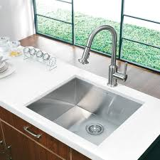 single bowl kitchen sink vigo vg2320c 23 undermount 16 gauge single bowl kitchen sink in