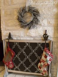 do it yourself fireplace cover for the summer