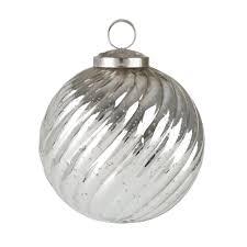 allport antique silver glass baubles