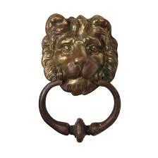 lion door knocker substantial antique brass lion door knocker c 1900 preservation