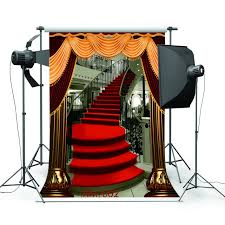 halloween background or backdrop decoration amazon amazon com 5x7ft red carpet stairs photography backdrop