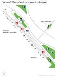 san jose airport gate map sjc norman y mineta san jose international airport terminal map