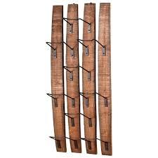 large fresno reclaimed wood modern rustic wine bottle shelf