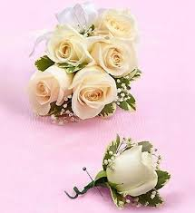 corsage prices wrist corsage with white roses prom or wedding flowers price 1