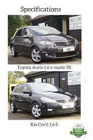 used car expert toyota auris 1 6 v matic sr vs kia cee u0027d 1 6 2