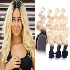8 Inch Human Hair Extensions by Amazon Com Carina Hair Dark Roots Blonde T1b 613 Ombre Virgin