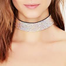 leather choker collar necklace images Colorful rhinestone choker necklaces for women wide crystal choker jpg