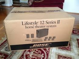 bose lifestyle v25 home theater system with wall mounts