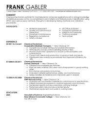 chemical operator resume best chemical technicians resume example livecareer