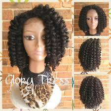 crochet marley hair on sale bantu knot out crochet braided lace front wig