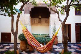 moroccan courtyards