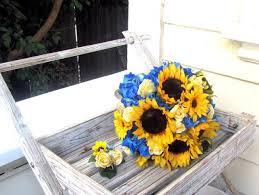 silk wedding flower packages silk wedding flower package sunflower wedding bouquet hydrangea