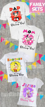 the birthday ideas mickey mouse clubhouse birthday shirt family set mickey mouse