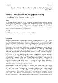 G Stige K Hen Mit Aufbau Adaptive Lehrkompetenz Und Pädagogische Haltung Pdf Download