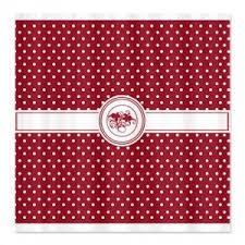 Red Polka Dot Curtains Makanahele Com Category Red Shower Curtains