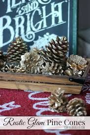 Decorating Pine Cones With Glitter Rustic Glam Christmas