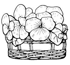 dibujo cesta flores 12 colorear dibujos net