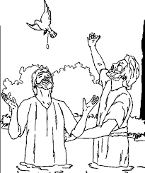 bapptism of jesus with holy spirit coloring pages best place to