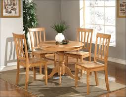 kitchen white round dining table set rug under dining table