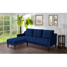 blue velvet sectional sofa navy blue velvet sectional wayfair