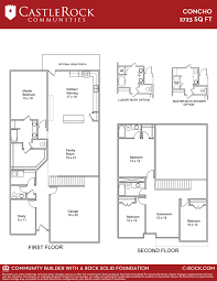 How To Determine The Square Footage Of A House Concho Cobalt Home Plan By Castlerock Communities In Cantarra