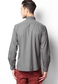 buy phosphorus slate grey colour solid full sleeve shirt 2432847