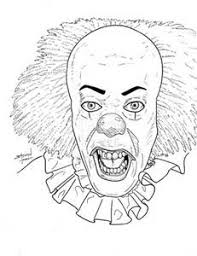 pennywise clown coloring pages bing images clowns coloring