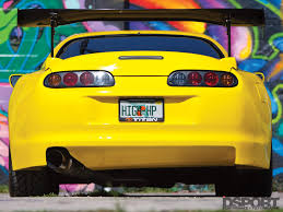 yellow toyota 1 067 whp toyota supra earns bragging rights yellow with envy