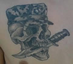 pauly u s m c skull