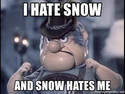 Hate Snow Meme - i hate snow and snow hates me burgermeister meisterburger meme
