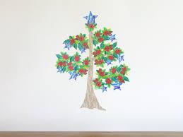 pohutukawa christmas tree wall decal medium felt pohutukawa christmas tree wall decal medium nz 39 00