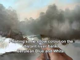 how to paint a snowy river an oil painting demonstration by alan