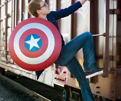 captain america costume spirit halloween real captain america shield 11 steps with pictures