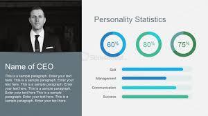 free company profile statistics with percent charts slidemodel
