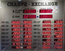 bureau de change à affichage du taux de change à un bureau de change photographie