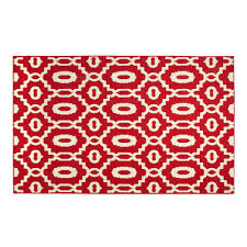 red geometric indoor outdoor accent rug christmas tree shops