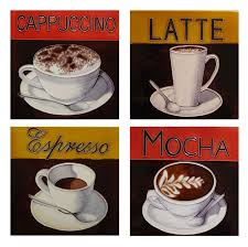 funky coffee lover gifts ceramic tile retro vintage kitchen wall