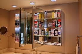 frameless recessed medicine cabinet pegasus 48 in w recessed or surface mount medicine cabinet in tri