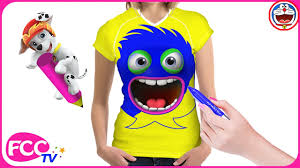 body painting female cartoon for kids